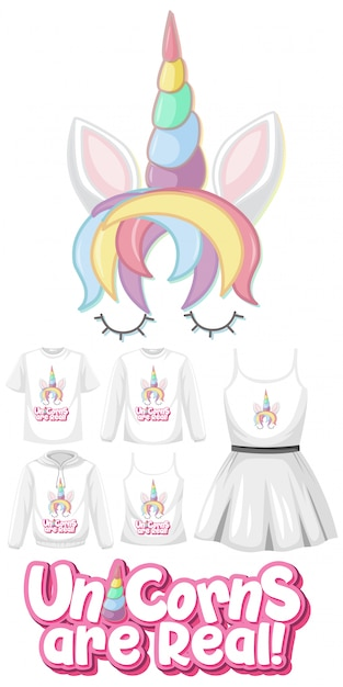 Set of girl outfits Premium Vector