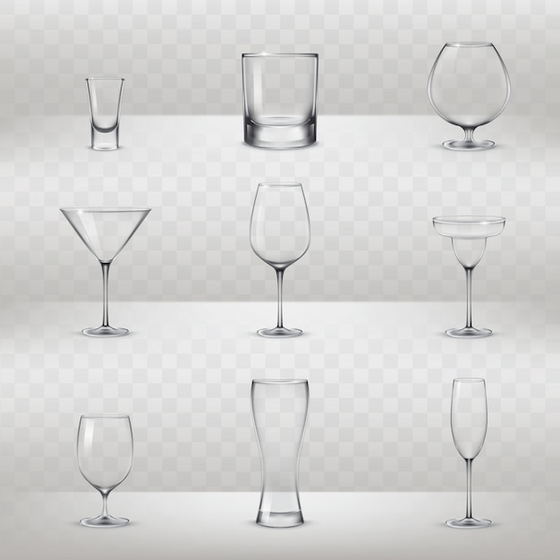 35cc56be647 Set of glasses for alcohol and other drinks Free Vector. 2 years ago.  Background · Icon · Restaurant · Wine ...
