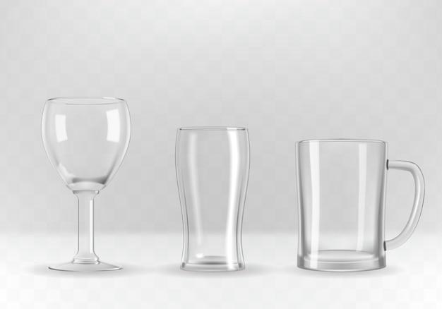Set of glasses Premium Vector
