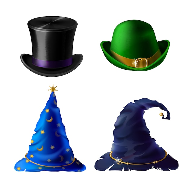 Set of halloween clothing isolated on white background. Free Vector