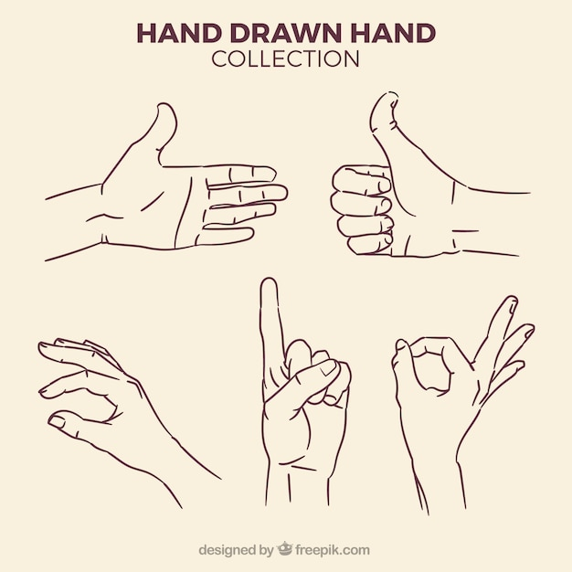 Set of hand sketches Free Vector