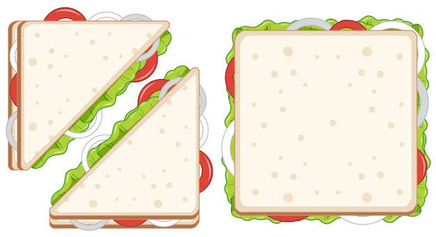 Set of healthy sandwiches Premium Vector