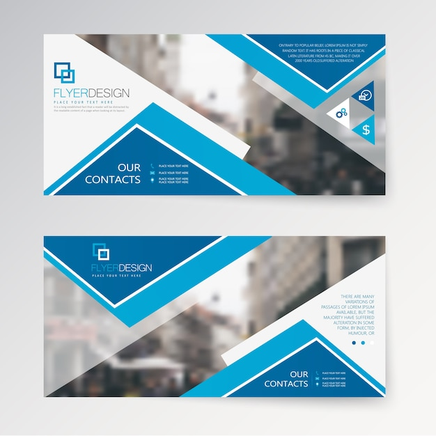 Set Horizontal Abstract Flyer Template With Geometric Pattern - Horizontal brochure template