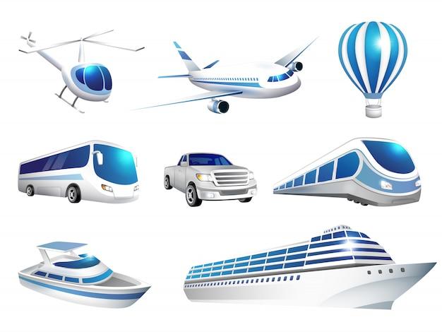 Set of icons transport Premium Vector