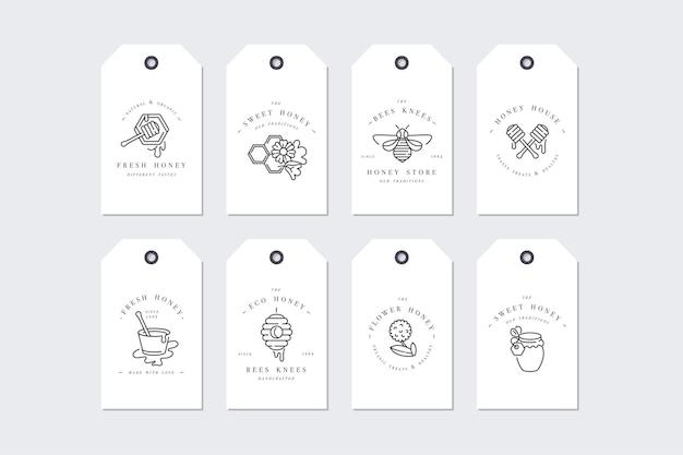 Set illustartion logos and design templates or badges Premium Vector
