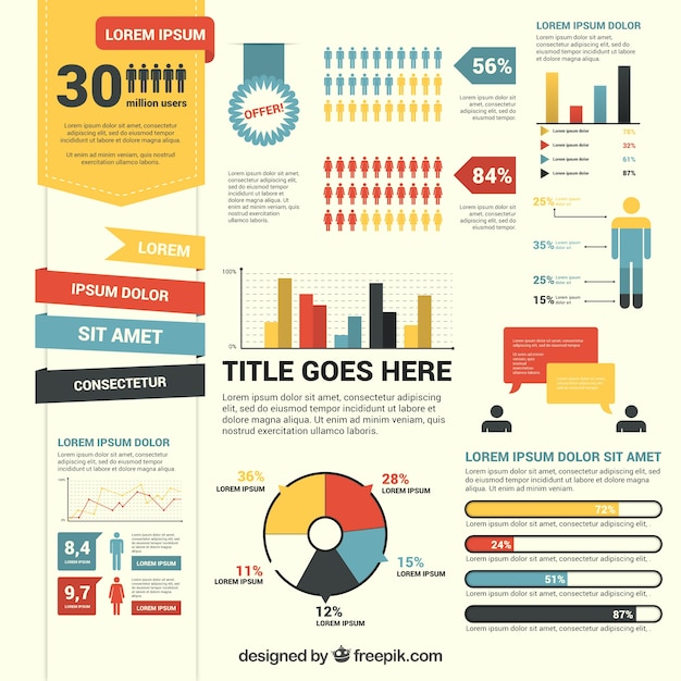 Set of infographic elements Free Vector