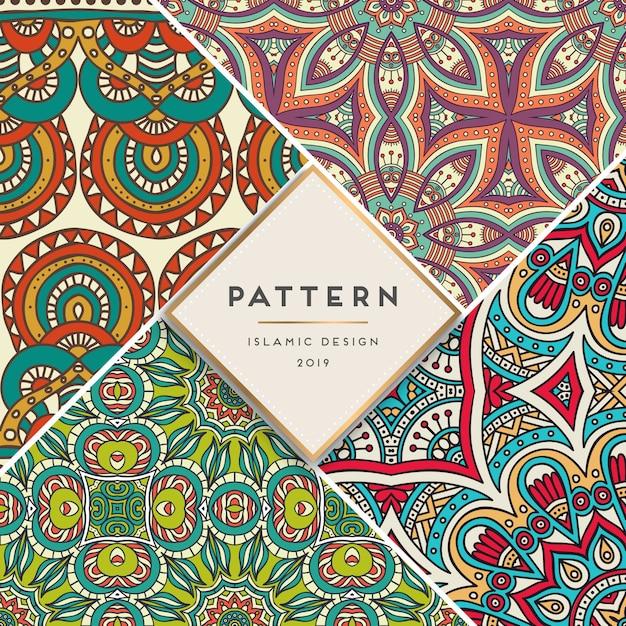 Set islamic pattern Free Vector