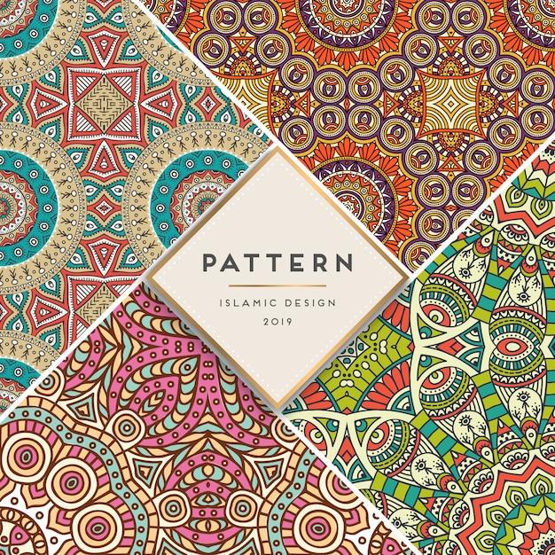 Set islamic pattern Premium Vector