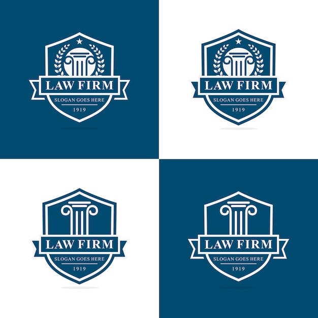 Set of law firm logo template Premium Vector
