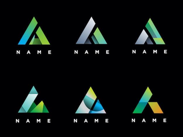Set of letter a logo template Premium Vector