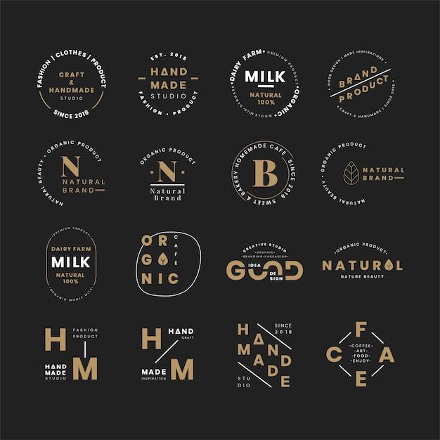 Set of logo badge design vectors Free Vector
