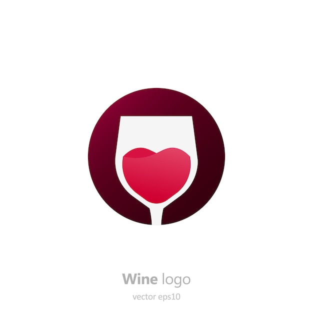 Set of logo round with a glass of wine. capsule with liquid in motion. Free Vector