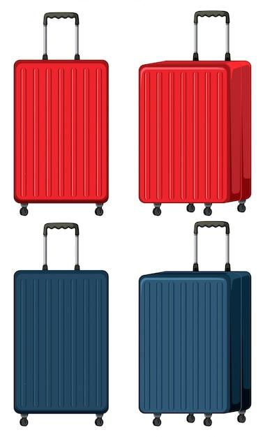 Set di bagagli su bianco Vettore gratuito