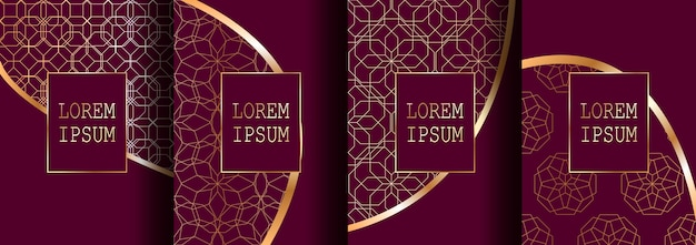 Set of luxury cover templates. Premium Vector
