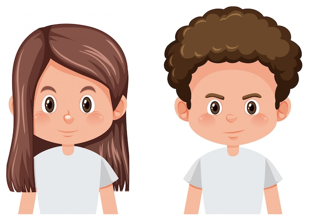 Set of male and female hairstyle Free Vector