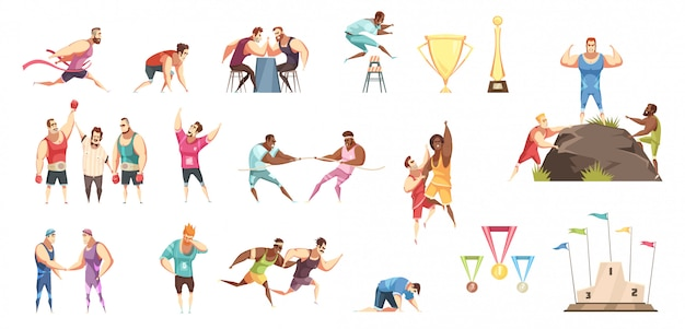 Set of many different sport illustration Free Vector