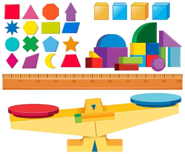 Set of measurement scale Premium Vector