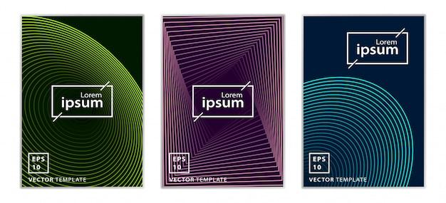 Set of minimal business brochure cover design Premium Vector