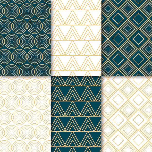 Set of minimal geometric pattern Free Vector
