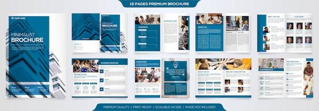 Set of minimalist business brochure template Premium Vector