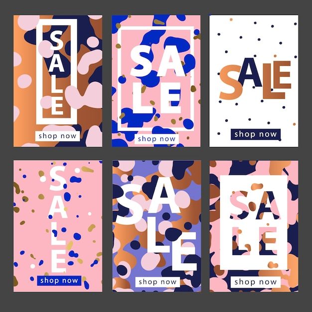 Set of mobile or social media banners templates. Premium Vector