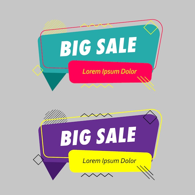 Set of modern abstract banner Premium Vector