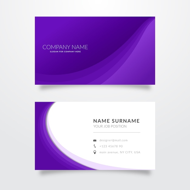 Set of monochromatic business cards Free Vector