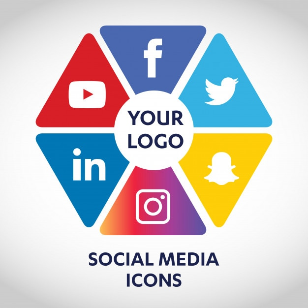 Set of most popular social media icons, twitter, youtube, whatsapp ... df58da290c