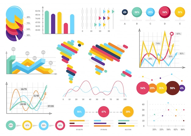 Set of most useful infographic elements Premium Vector
