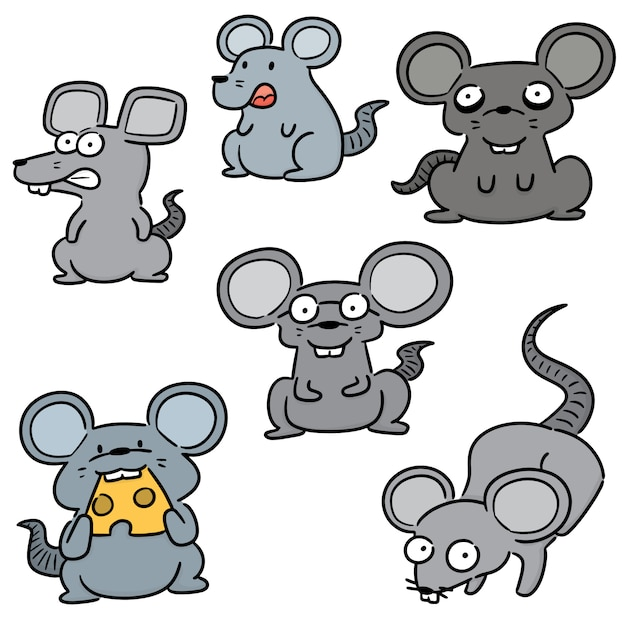 Set of mouse Premium Vector
