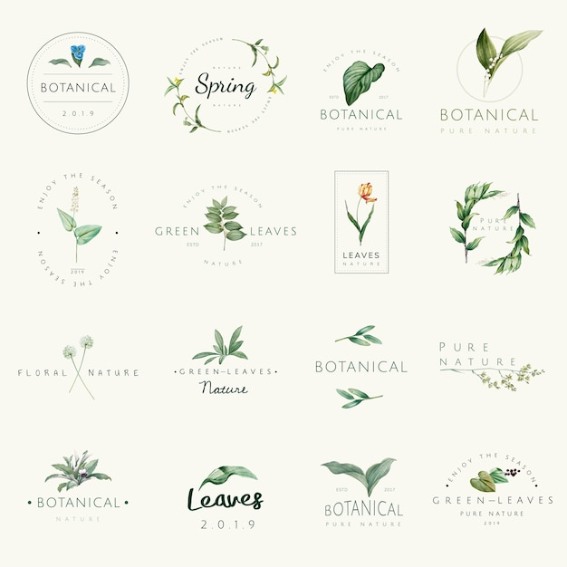 Free Vector Set Of Nature And Plant Logo Vectors