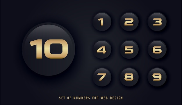 Set of numbers for web design Premium Vector