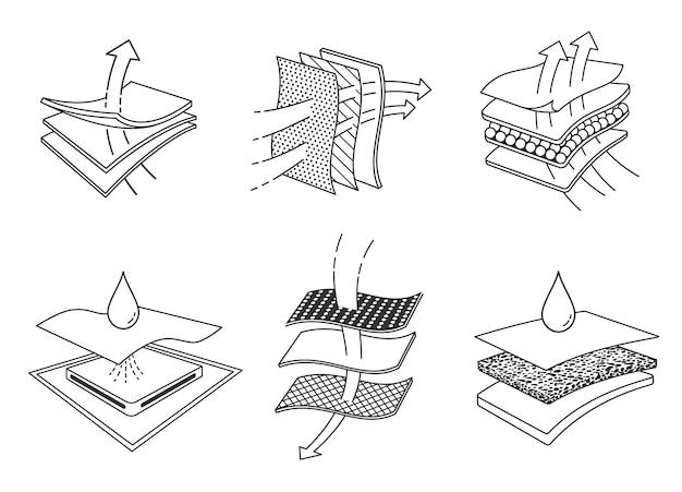 Набор абсорбирующих простыней и подгузников Premium векторы