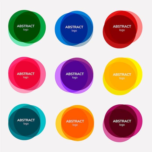 Набор абстрактных дизайнов значков Бесплатные векторы