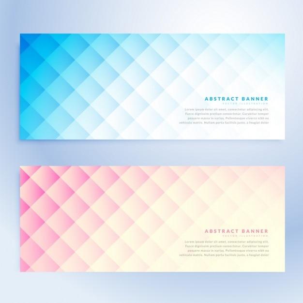 مجموعه ای از آگهی های انتزاعی هندسی در دو رنگ مختلف