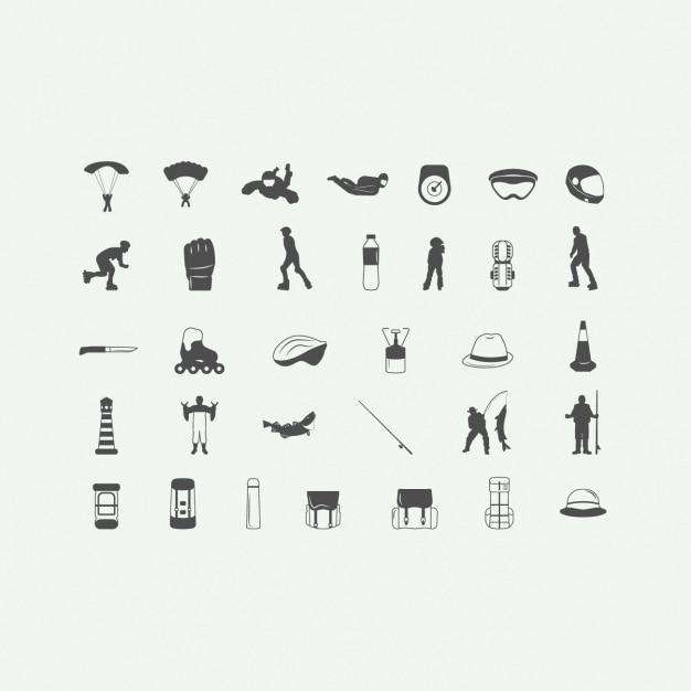 Set of adventure icons