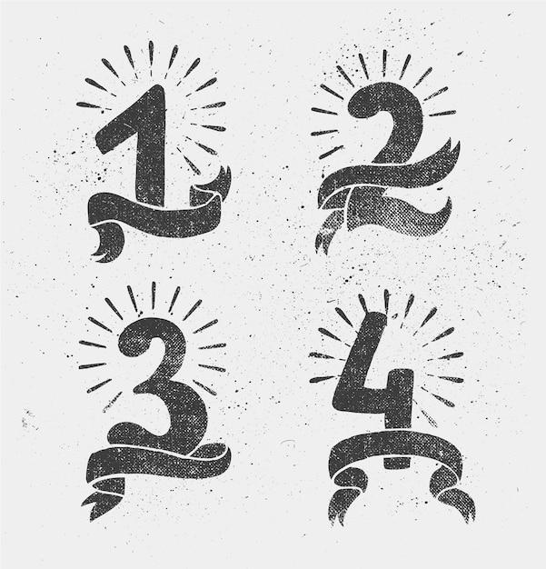 Набор юбилейных номеров Premium векторы