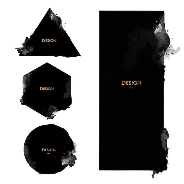 Set of Announcement Badge templates design illustration Free Vector