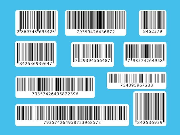 バーコードのセット。コレクションのqrコード、イラスト。 Premiumベクター