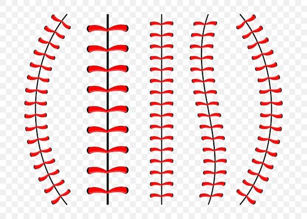 野球のステッチのセット Premiumベクター