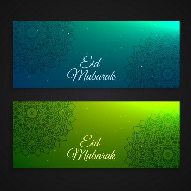 مجموعه زیبای عید مبارک بنرهای جشنواره