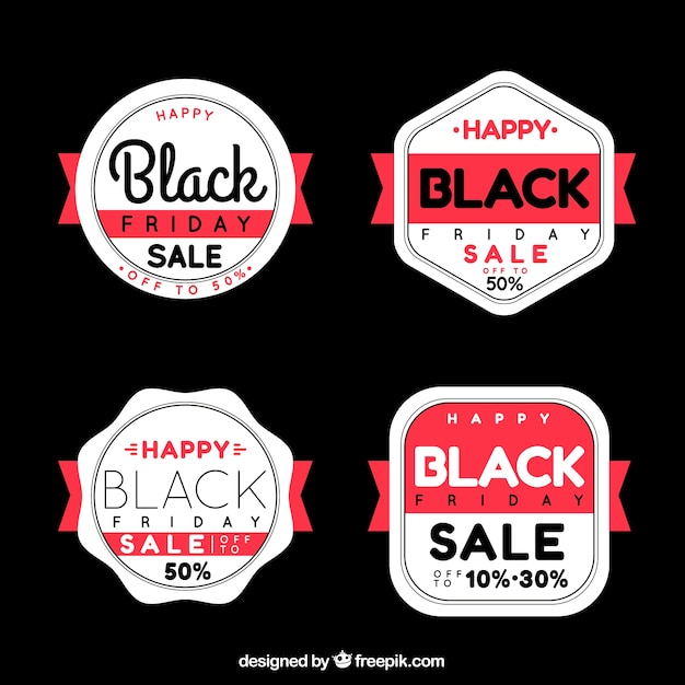 Set of black friday retro badges
