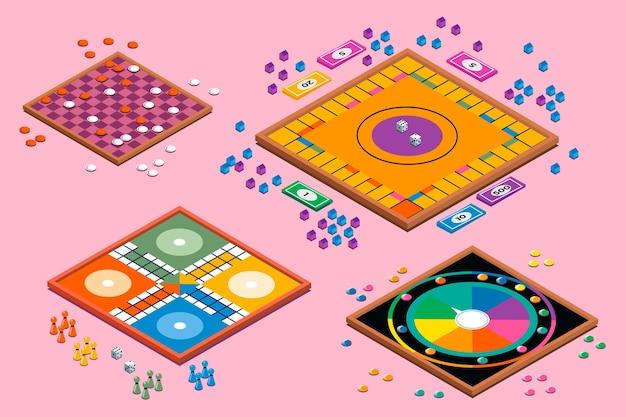 Набор общества настольных игр Бесплатные векторы