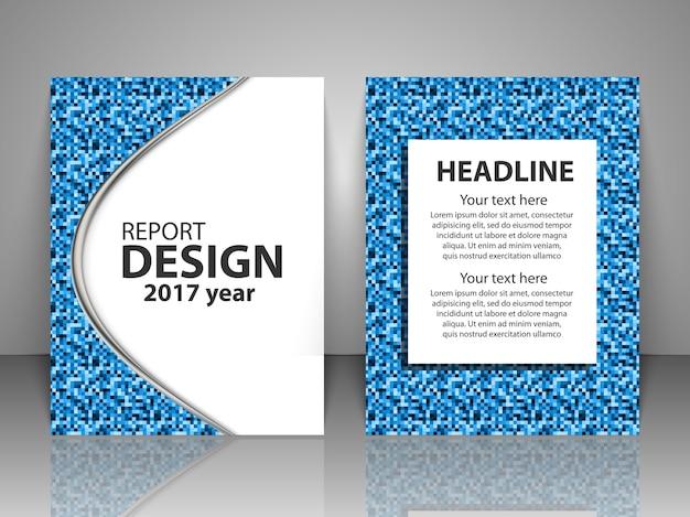 パンフレットデザインテンプレートのセット Premiumベクター