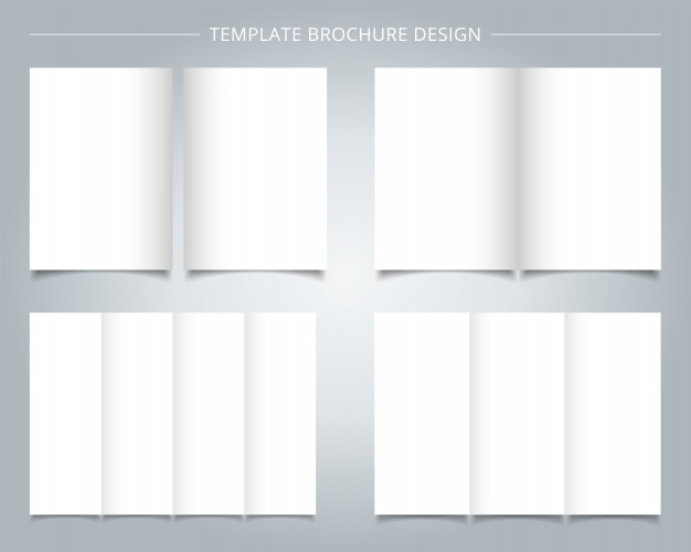 Set Of Brochure Templates Blank Page Background Vector Premium