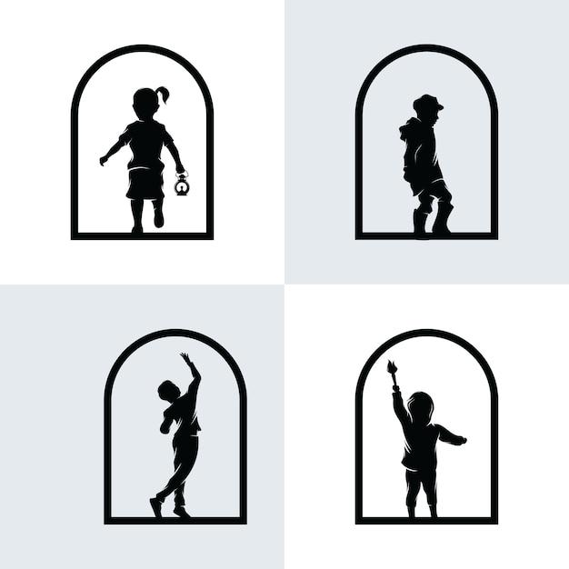 Набор логотипа детской мечты Premium векторы