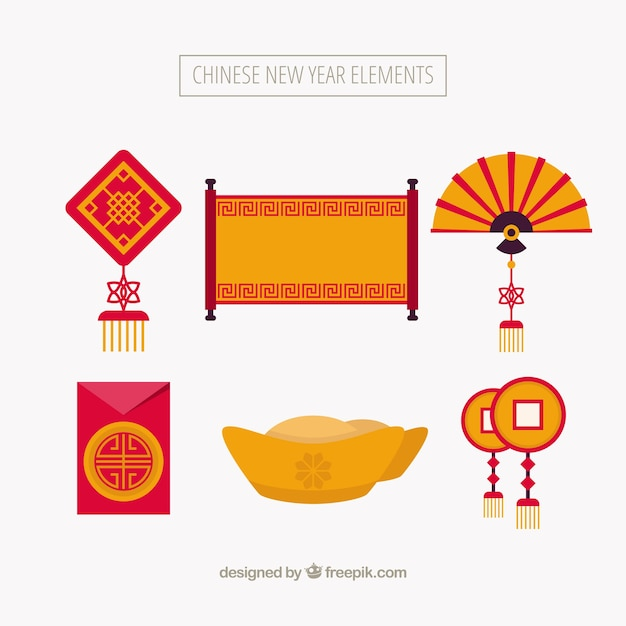 set of chinese new year elements vector free download rh freepik com