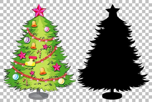 Набор рождественской елки Бесплатные векторы