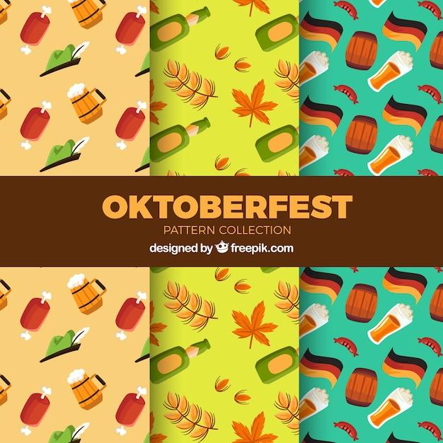 Set of classic oktoberfest patterns