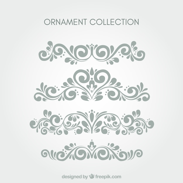 Set of classic ornaments Free Vector
